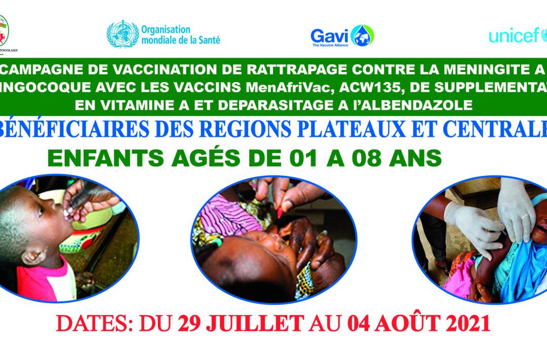 Vaccination de routine au Togo : MenAfriVac BIENTÔT DANS LE CALENDRIER VACCINAL POUR TOUT ENFANT TOGOLAIS MOINS DE 2 ANS.